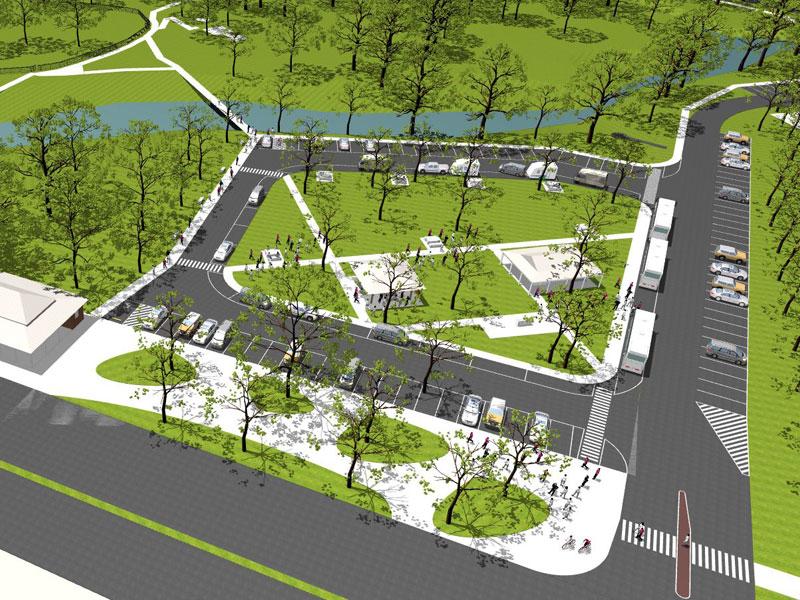 Concept image of new car park at Australia Park