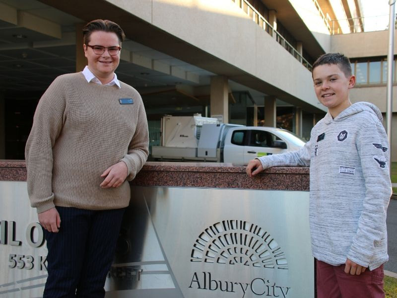 AlburyCity's new Youth Mayor, Eli Davern, and Deputy Jack Kelso are ready to lead