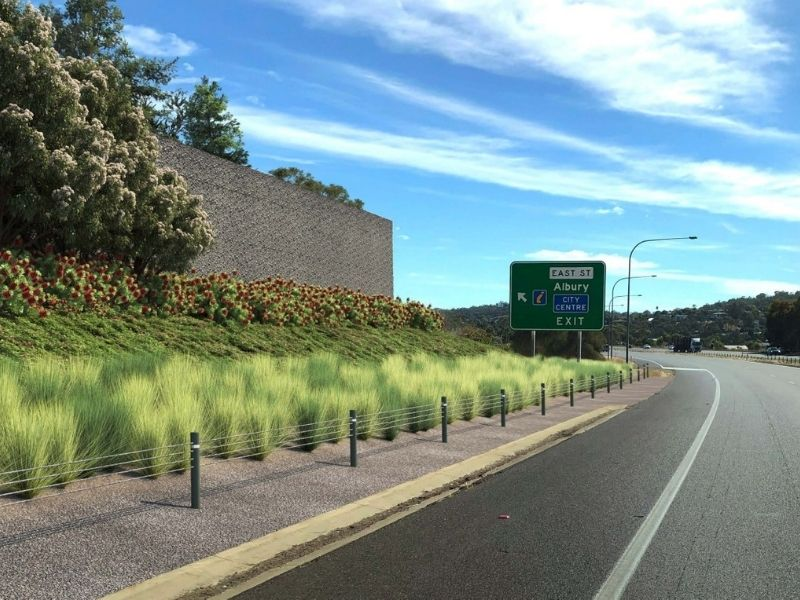 Native plantings will make the Hume HIghway through Albury more visually appealing and environmentally sensitive.