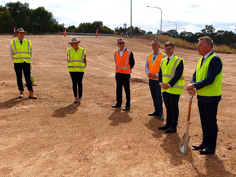 Image from sod turning event at Davey Road