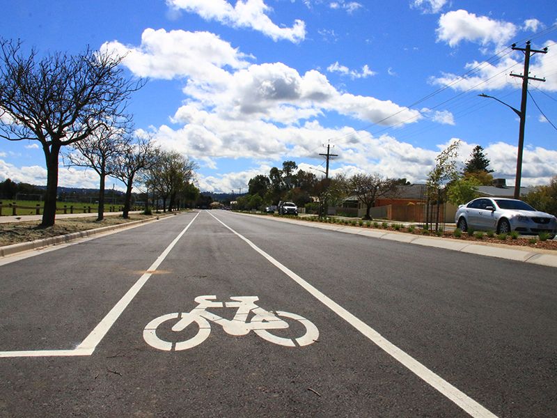 The Keene Street project has delivered a smoother, safer road with landscaping and pedestrian crossings.