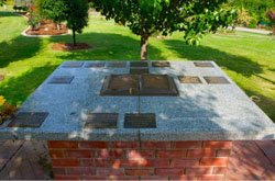 image of the open book memorial option