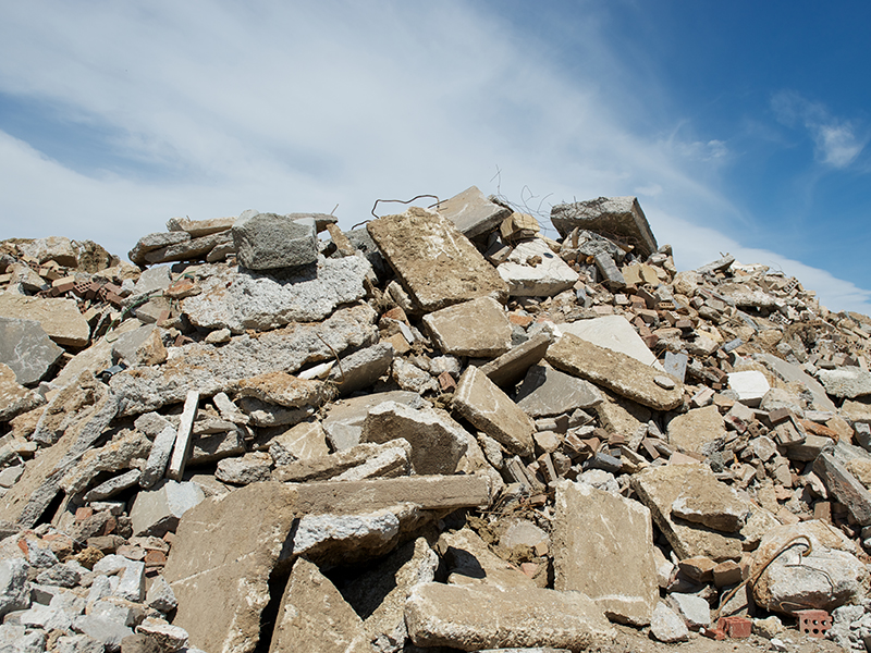 Image of crushed concrete